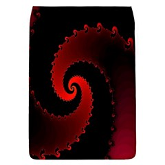 Red Fractal Spiral Flap Covers (l)