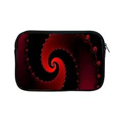 Red Fractal Spiral Apple iPad Mini Zipper Cases