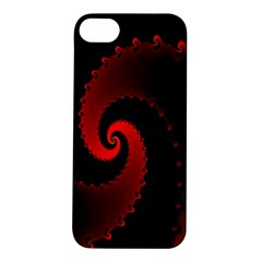 Red Fractal Spiral Apple Iphone 5s/ Se Hardshell Case