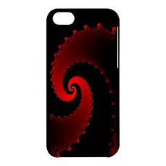 Red Fractal Spiral Apple Iphone 5c Hardshell Case