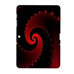 Red Fractal Spiral Samsung Galaxy Tab 2 (10.1 ) P5100 Hardshell Case