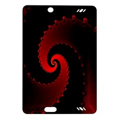 Red Fractal Spiral Amazon Kindle Fire Hd (2013) Hardshell Case