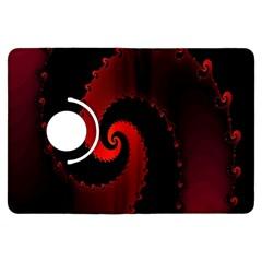 Red Fractal Spiral Kindle Fire Hdx Flip 360 Case