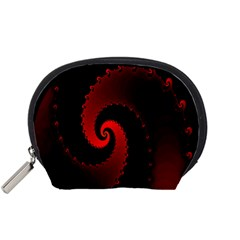 Red Fractal Spiral Accessory Pouches (Small)