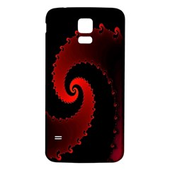 Red Fractal Spiral Samsung Galaxy S5 Back Case (white)
