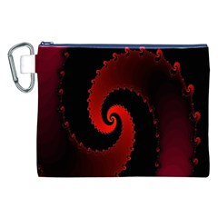 Red Fractal Spiral Canvas Cosmetic Bag (XXL)