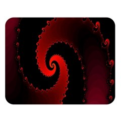 Red Fractal Spiral Double Sided Flano Blanket (Large)