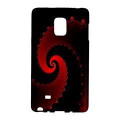Red Fractal Spiral Galaxy Note Edge