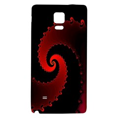 Red Fractal Spiral Galaxy Note 4 Back Case