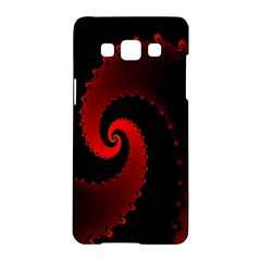 Red Fractal Spiral Samsung Galaxy A5 Hardshell Case
