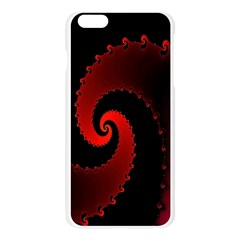 Red Fractal Spiral Apple Seamless iPhone 6 Plus/6S Plus Case (Transparent)