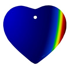 Blue Wallpaper With Rainbow Ornament (Heart)
