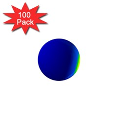 Blue Wallpaper With Rainbow 1  Mini Magnets (100 pack)
