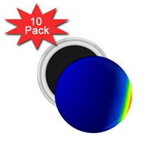 Blue Wallpaper With Rainbow 1 75  Magnets (10 Pack)