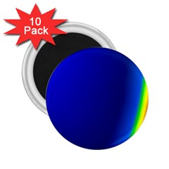 Blue Wallpaper With Rainbow 2 25  Magnets (10 Pack)