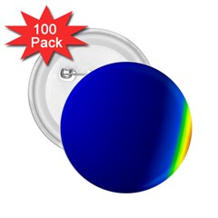 Blue Wallpaper With Rainbow 2 25  Buttons (100 Pack)