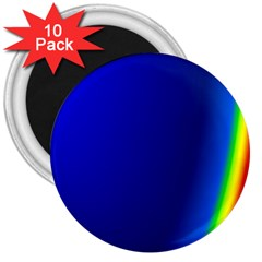 Blue Wallpaper With Rainbow 3  Magnets (10 pack)