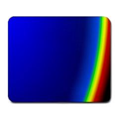 Blue Wallpaper With Rainbow Large Mousepads