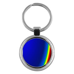 Blue Wallpaper With Rainbow Key Chains (Round)