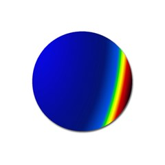 Blue Wallpaper With Rainbow Magnet 3  (Round)