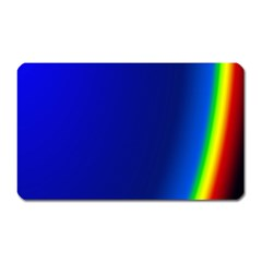 Blue Wallpaper With Rainbow Magnet (Rectangular)