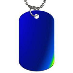 Blue Wallpaper With Rainbow Dog Tag (One Side)