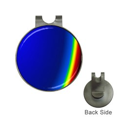 Blue Wallpaper With Rainbow Hat Clips With Golf Markers