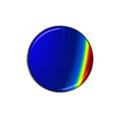 Blue Wallpaper With Rainbow Hat Clip Ball Marker (4 Pack)