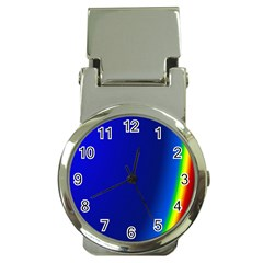 Blue Wallpaper With Rainbow Money Clip Watches