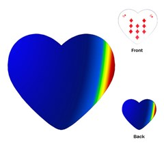 Blue Wallpaper With Rainbow Playing Cards (Heart)