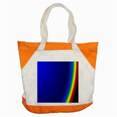 Blue Wallpaper With Rainbow Accent Tote Bag