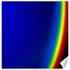Blue Wallpaper With Rainbow Canvas 16  X 16