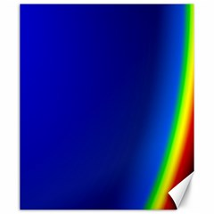 Blue Wallpaper With Rainbow Canvas 20  X 24