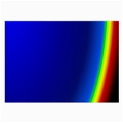 Blue Wallpaper With Rainbow Large Glasses Cloth (2-Side)