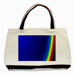Blue Wallpaper With Rainbow Basic Tote Bag (two Sides)