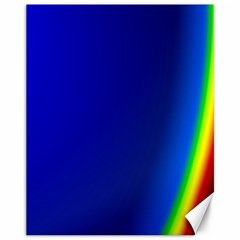 Blue Wallpaper With Rainbow Canvas 11  x 14