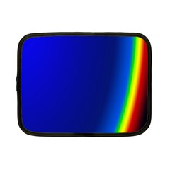 Blue Wallpaper With Rainbow Netbook Case (Small)