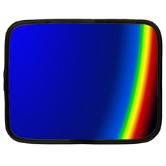 Blue Wallpaper With Rainbow Netbook Case (Large)