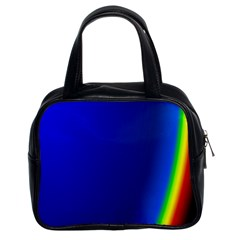 Blue Wallpaper With Rainbow Classic Handbags (2 Sides)