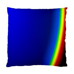 Blue Wallpaper With Rainbow Standard Cushion Case (two Sides)