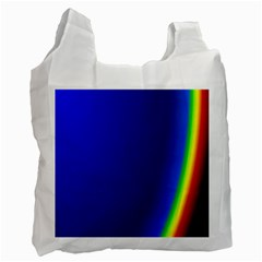 Blue Wallpaper With Rainbow Recycle Bag (One Side)