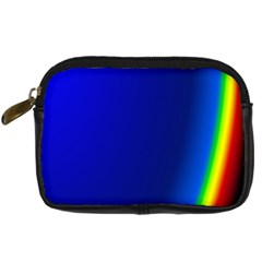 Blue Wallpaper With Rainbow Digital Camera Cases
