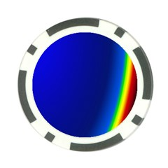 Blue Wallpaper With Rainbow Poker Chip Card Guard (10 pack)