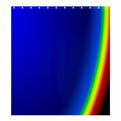 Blue Wallpaper With Rainbow Shower Curtain 66  X 72  (large)