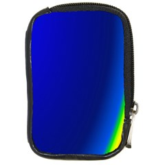 Blue Wallpaper With Rainbow Compact Camera Cases
