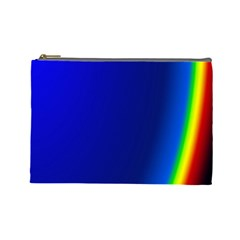 Blue Wallpaper With Rainbow Cosmetic Bag (Large)