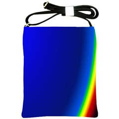 Blue Wallpaper With Rainbow Shoulder Sling Bags