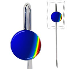 Blue Wallpaper With Rainbow Book Mark
