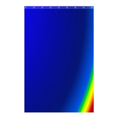Blue Wallpaper With Rainbow Shower Curtain 48  x 72  (Small)