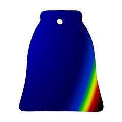 Blue Wallpaper With Rainbow Ornament (Bell)